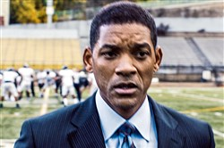 "Will Smith, seen in here as Dr. Bennet Omalu, in a scene from ""Concussion,"" will boycott the Oscars along with his wife Jada Pinkett Smith."