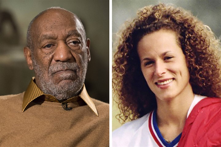 Bill Cosby charges In this combination of file photos, entertainer Bill Cosby, right, pauses during an interview in Washington on Nov. 6, 2014, and Andrea Constand, right, poses for a photo in Toronto on Aug. 1, 1987.