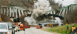 The Greenfield Bridge came tumbling down on Dec. 28.