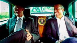 "President Barack Obama with Jerry Seinfeld in a scene from ""Comedians in Cars Getting Coffee."""