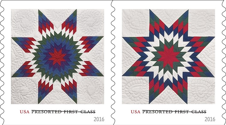 Stamps1231265-3 Stamps celebrate star quilts.