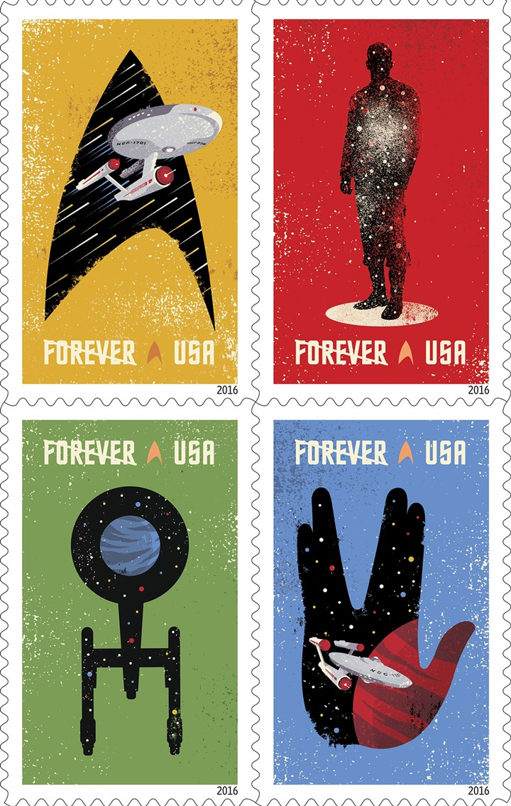 Star Trek stamps The U.S. Postal Service's Star Trek stamps.