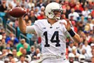 Christian Hackenberg declared for the NFL after the TaxSlayer Bowl game against the Georgia Bulldogs at EverBank Field.