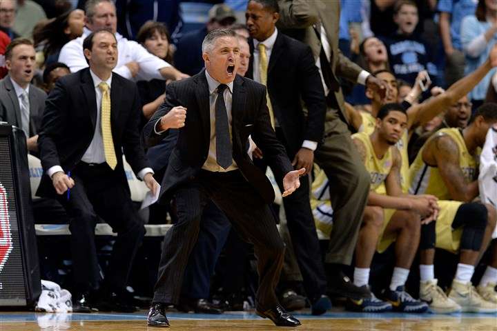 503180006 Head coach Brian Gregory of the Georgia Tech Yellow Jackets reacts as a foul is called against his team during their game against the North Carolina Tar Heels at the Dean Smith Center on January 2, 2016 in Chapel Hill, North Carolina. North Carolina won 86-78.