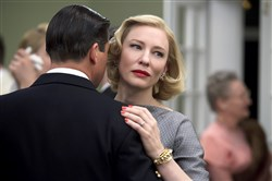 "Kyle Chandler and Cate Blanchett's marriage looks shaky in ""Carol."""