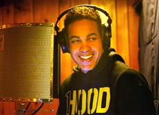 Rap artist and community activist Jasiri X records in his studio in East Liberty.