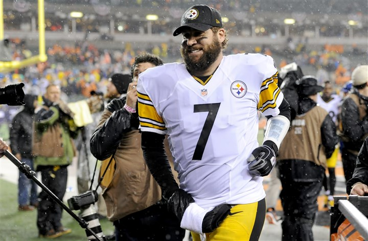 "20160109mfsteelerssports24-3 Steelers coach Mike Tomlin says Ben Roethlisberger ""has a chance"" to play against Denver on Sunday."
