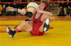 Waynesburg's Caleb Morris is one part of multiple brothers acts in WPIAL wrestling this season. Caleb wrestles at 120 pounds and his brother, Colby, competes at 113.