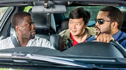 "From left, Kevin Hart, Ken Jeong and Ice Cube in ""Ride Along 2."""