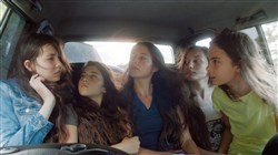 "From left, Tugba Sunguroglu, Doga Zeynep Doguslu, Elit Iscan-Ilayda Akdogan and Gunes Sensoy in ""Mustang."""