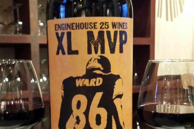 "Hines Ward's new wine, Hines Ward 2013 Napa Valley ""Eighty-Six"" cabernet."