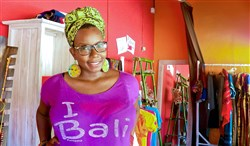 Rukiya McNair, formerly of Bloomfield, in her boutique Culture Cloz in Bali, Indonesia. Prior to her move overseas, the shop was based in East Liberty.