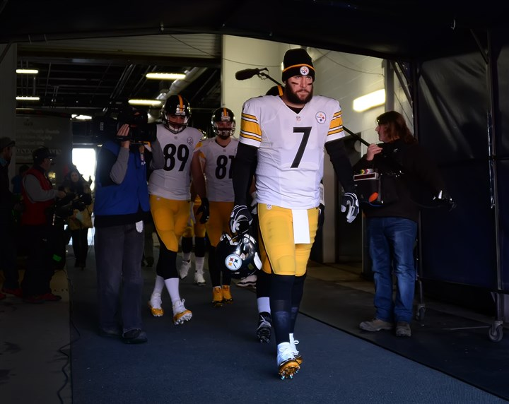 "20160117pdSteelersSports01-3 ""Yeah, it's tough,"" Ben Roethlisberger said. ""You want to keep going, and you just feel like things are going your way because we've overcome so much and the way you come back from last week's game. It's just — it's disappointing to lose."""