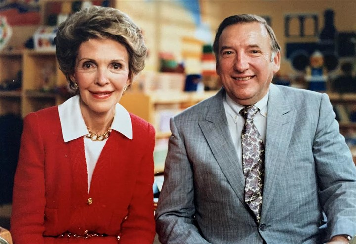 Lloyd Kaiser The late former WQED chief Lloyd Kaiser with then-first lady Nancy Reagan during her visit to Pittsburgh and the television station.