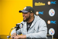 Steelers coach Mike Tomlin addresses reporters Jan. 20 at the Steelers' South Side training facility.