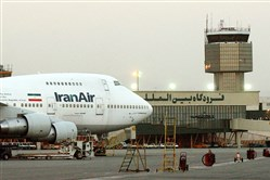 A Boeing 747 of Iran's national airline is parked at Mehrabad International airport in Tehran, Iran.