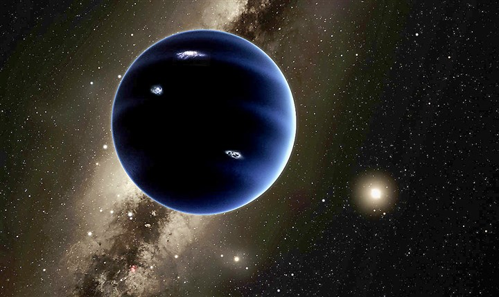PLANET0121b An undated handout image of an artist's impression of a possible ninth planet in the solar system.