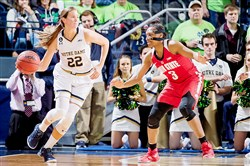 Notre Dame's Madison Cable, a Mt. Lebanon graduate, is averaging 10.8 points per game this season for the Fighting Irish.
