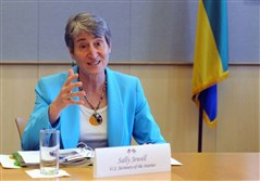 "U.S. Interior Secretary Sally Jewell said the Ehrenfeld project ""is an example of how we can work together to make strong and smart investments in coal communities."""
