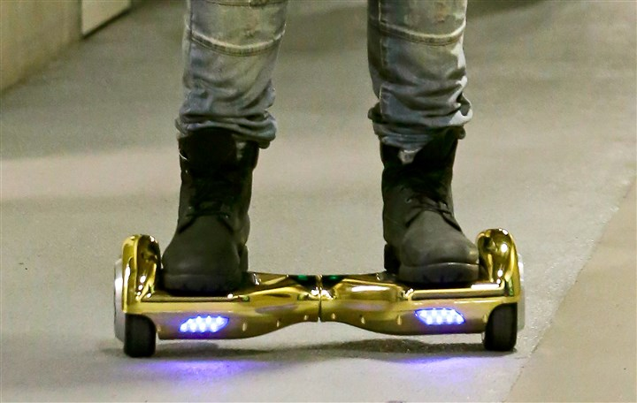 20160121Hoverboard Hoverboards have been banned at some of the largest airports in the U.S. because of the potential fire dangers from the lithium-ion batteries that power the devices.
