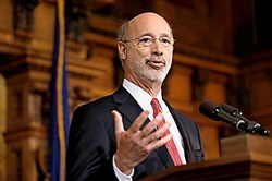 Pennsylvania Gov. Tom Wolf speaks in December 2015 at the state Capitol in Harrisburg, Pa.