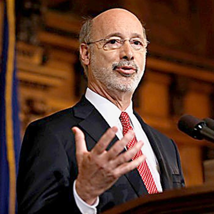 Pennsylvania Budget Wolf Pennsylvania Gov. Tom Wolf speaks with members of the media about the budget in December at the state Capitol.