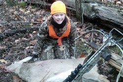 On Jan. 4, Cara Jo Della Toffalo, 11, of Harmony downed her first deer, a button buck taken with a crossbow in Butler County.