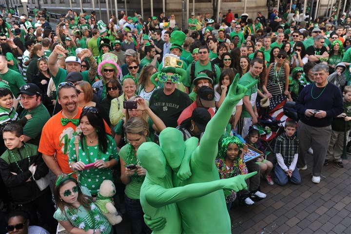 St. Pat's Day 0130 Revelers go green at the 2012 St. Patrick's Day Parade Downtown.