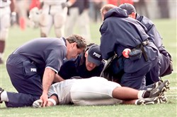 As then-Penn State player Adam Taliaferro lay sprawled on the Ohio Stadium turf in September 2000, the question wasn't whether he would play again but whether he would walk again. The immediate attention of qualified medical personnel made the latter possible.