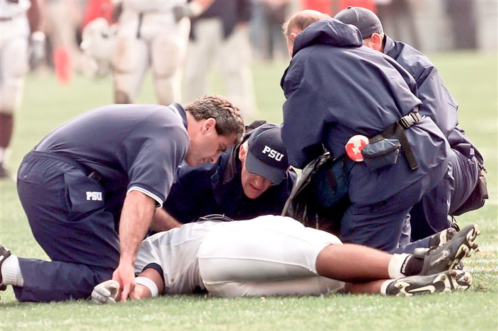 taliaferro0131 As then-Penn State player Adam Taliaferro lay sprawled on the Ohio Stadium turf in September 2000, the question wasn't whether he would play again but whether he would walk again. The immediate attention of qualified medical personnel made the latter possible.