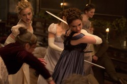 "Lily James and Bella Heathcote can make the blood flow in ""Pride and Prejudice and Zombies."""