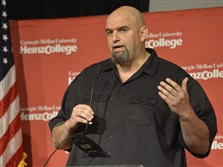 Braddock Mayor John Fetterman will be in the audience tonight when Republican Donald Trump and Democrat Hillary Clinton hold their first presidential debate at Hofstra University on New York's Long Island.