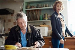 "Charlotte Rampling, right, and Tom Courtenay are husband and wife in ""45 Years."""