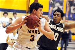 Despite being a standout football player, John Castello of Mars Area will pursue basketball in college because of a fear of concussions and head injuries.