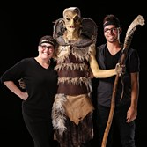 "Melanie Licata and Kaleb Lewis, both grads of the Tom Savini Special Make-up Effects program in Monessen, teamed up for a challenge on Syfy's ""Face Off."""