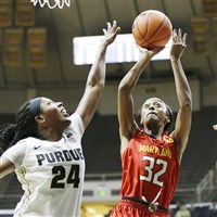 Maryland junior and former Hopewell star Shatori Walker-Kimbrough poured in 41 points Tuesday night.