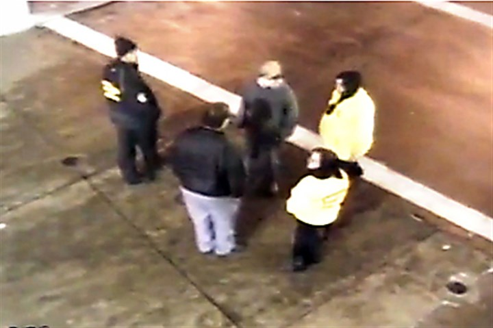 Excessive force Heinz Field This is a screen shot that shows Heinz Field event staff talking to Gabriel Despres, center, before he is approached by police.