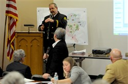 Chief Don Browning presented his pitch for keeping the Ingram Volunteer Fire Department.