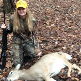 Abigail O'Farrell, 15, of Dormont took this button buck on the last day of the 2015 firearm deer 