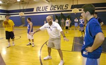 Leechburg Area High School basketball coach Damian Davies runs the team through practice in this March 7, 2007, file photo.