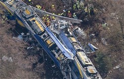Two regional trains crashed before 7 this morning on the single line that runs near Bad Aibling, in Bavaria