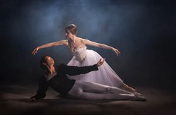 "Pittsburgh Ballet Theatre's Yoshiaki Nakano and Amanda Cochrane in ""Giselle."" In honor of artistic director Terrence Orr's 20th anniversary with PBT, the company will stage in October a new production of the classic ballet."