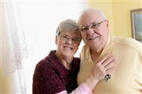 "Rebecca Droke/Post-Gazette-- Friday, February 5, 2016-- STORY BY SARA BAUKNECHT-- Carol and Jim Primm, married for 51 years, at their home in Lincoln Place on Friday, February 5, 2016. The couple were married on May 23, 1964, have four children and 7 grandchildren. Carol says the key to their long marriage has been their strong faith, good family support system and compromise."" She also adds that Jim is a ""true gentleman."""
