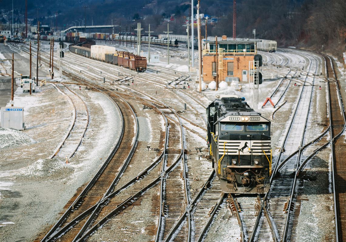 Norfolk Southern operates the sprawling Conway Terminal in Beaver County. The carrier reported a 22