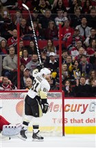 Penguins winger Phil Kessel reacts after scoring a goal Friday against the Carolina Hurricanes in the second period in Raleigh, N.C.