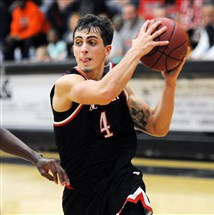 New Castle guard Micah Fulena drives to the hoop in a game last month at Beaver Falls.