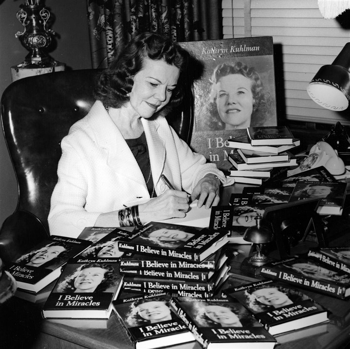 Evangelist Kathryn Kuhlman Evangelist Kathryn Kuhlman at a book signing in Pittsburgh.