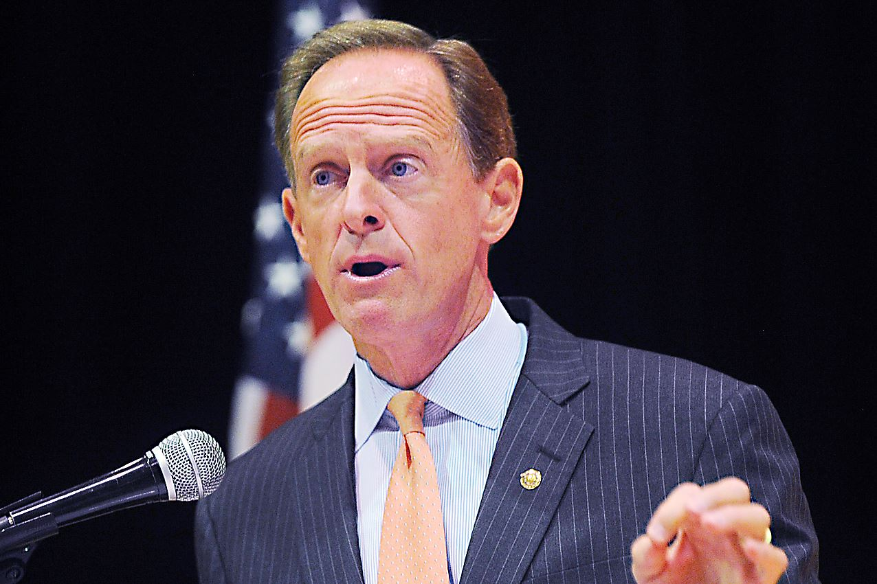 20150908ng-Toomey1 U. S. Senator Pat Toomey (R-Pa.) delivers an address on the Iran nuclear agreement recently presented to Congress at the Jewish Community Center of Greater Pittsburgh in Squirrel Hill .