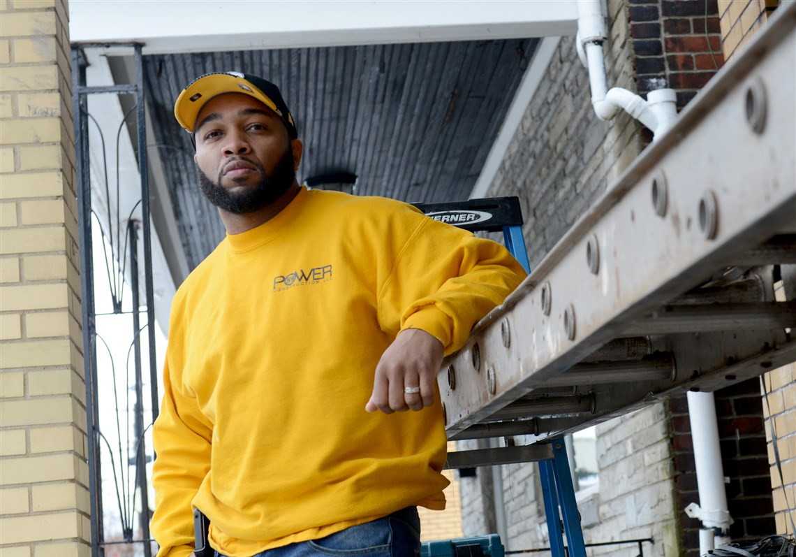 pittsburgh man motivated by lack of care he saw in construction scott thomas tunstalle founder of power 59 construction at a webster avenue construction