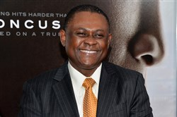 "Bennet Omalu attends a special screening of ""Concussion"" in New York last year."